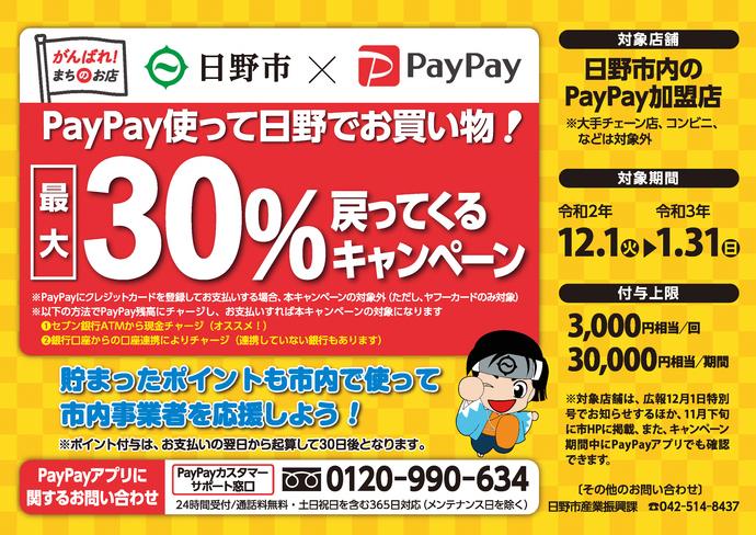 日野市&PayPayキャンペーン